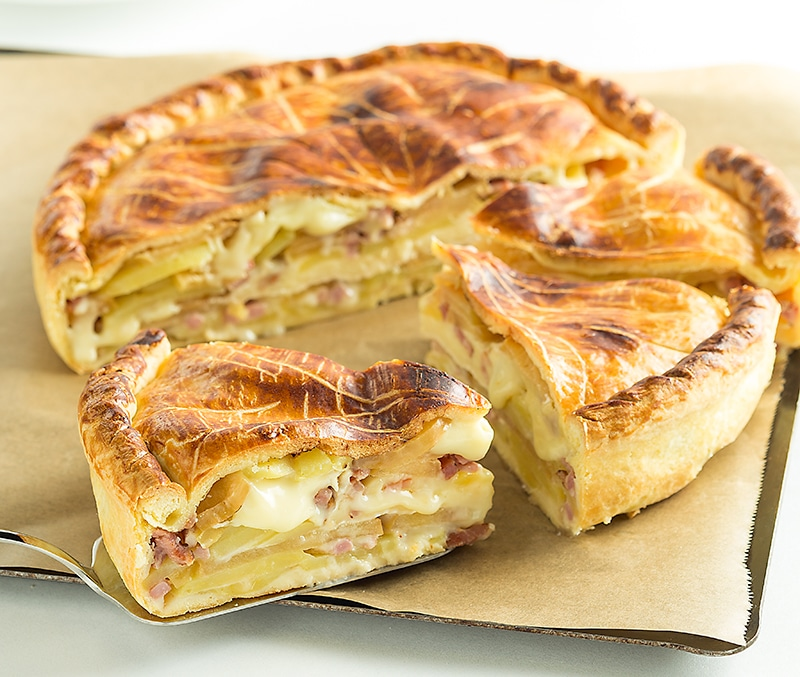 Tourte normande au Camembert